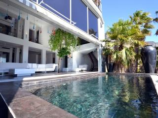 Outside view of house and pool