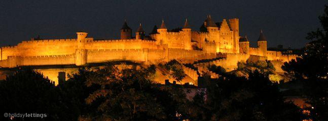 Medieval La Citie at night