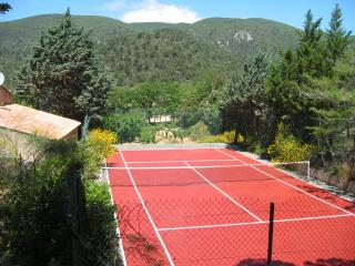 Tennis Court with view of the Luberon