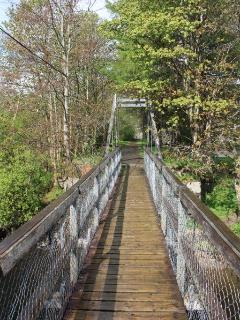 Suspension Bridge at Strathyre 200 metres