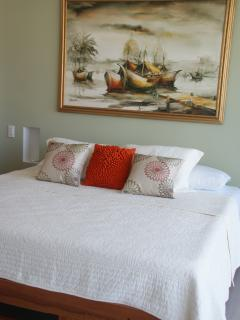 Master bedroom - furnished with a comfortable king size bed and an en-suite bathroom