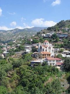 Villages amongst greenery in the Troodos Mountains