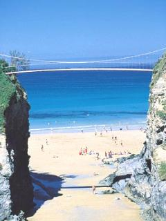 The bridge at Towan beach