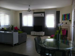 View of spacious lounge looking from kitchen with 37 inch lcd tv dvd and satalite tv
