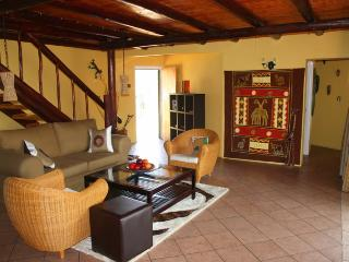 Lounge area - downstairs - with sliding doors onto the front terrace