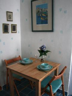 Dining area - a place to eat at home. Saves money on eting out too.