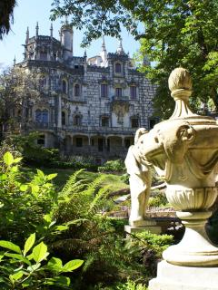 Sintra World Heritage site: Magical Reqaleira Palace and Gardens, 20 Mins drive away
