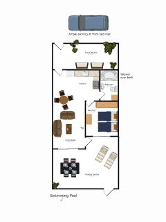 Apartment Layout (Not to scale)