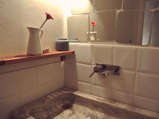 Il bagno ha accesso diretto dalla stanza da letto