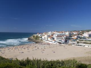 Praia das Maçãs beach, less than 5 mins walk away