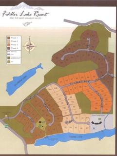Map of Fiddlers Lake Resort