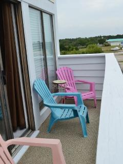 Deck with chairs