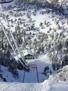 Skiing in Troodos Mountains