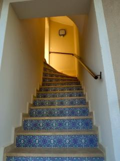 Enter the top floor via the traditional tiled stairway