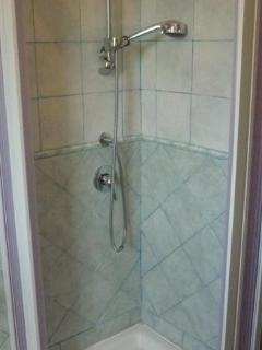 Shower box in the bathroom. Small apt.