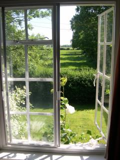 View of paddocks from double bedroom