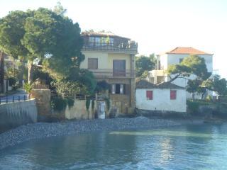 Traditional house over the sea wave,Mikri Mantinia, Kalamata