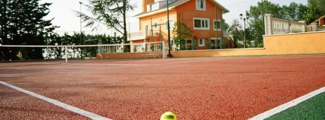Tennis Court & House