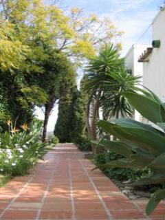 Access path leading to townhouse