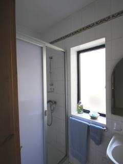 Spare shower with WC and wash hand basin