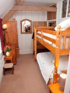 Bedroom 3 - bunk beds (full size), exposed beams