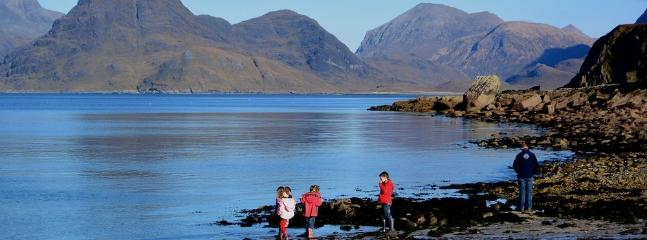 Waiting for boat trip to Loch Coruisk from Elgol