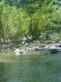 Private river bank