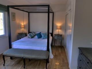 Unwind in the four poster bed