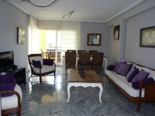 Living room with the terrace at the end