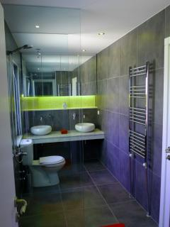 One of the wetroom bathrooms