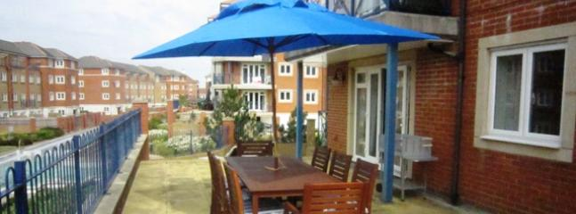 Terrace with outside dining table