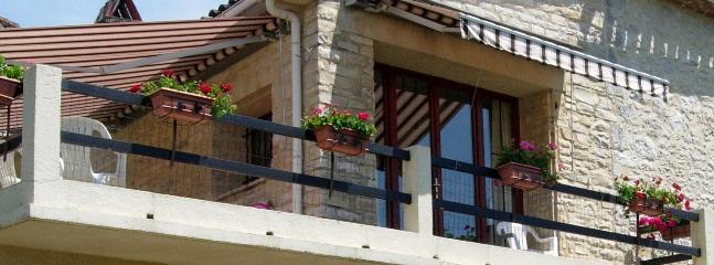 Safety fence on balcony