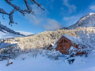 Chute de neige au Chalet Carpe Diem