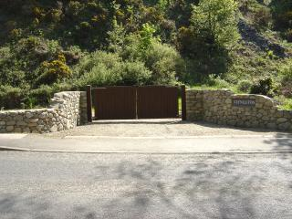 The entrance to Glynllifon House.
