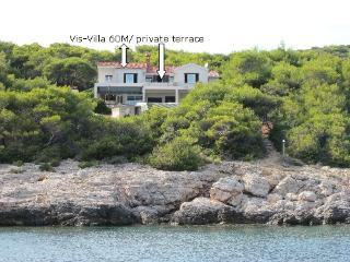 VIS VILLA 60M secluded seaside, Vis