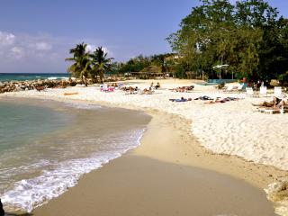 The family beach, which is separate from the clothing optional beach