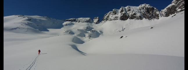 Winter skiing in Lofoten