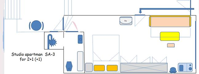 sketch of the apartment