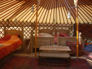 Old Chapel Farm orange Yurt, Llanidloes