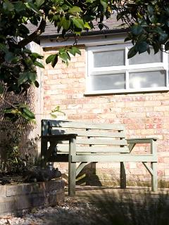 Sheltered, sunny patio for al fresco breakfast & BBQ's