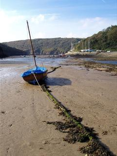 Tide out at Solva harbour