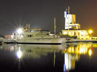 Vivione111 .. Traditional gentleman's Motor yacht in the pretty port of Duquesa, Puerto de la Duquesa