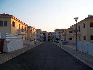 Mythical Sands resort, near shops, restaurants, beaches. We are 2nd building on left after houses.