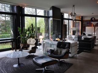 Maison d'architecte en bois, design, de plain-pied, Arzano