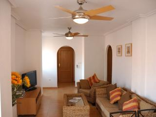 View of the living area - two ceiling fans for your comfort
