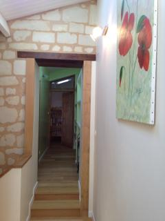 The corridor on the first floor leads to the bedrooms