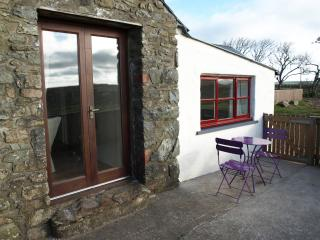 The french doors lead onto the patio with a lovely view over the Dowrog Common