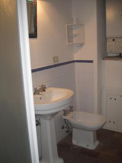 One of two shower rooms