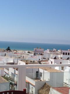 Vista panorámica del pueblo desde la terraza del apartamento.
