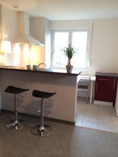 Cuisine espace ouvert -'Appartement le Causse'